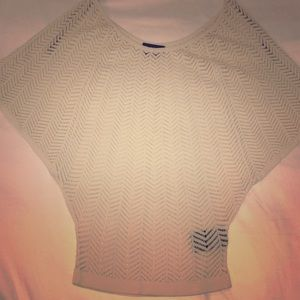 Off the shoulder sweater/ see through